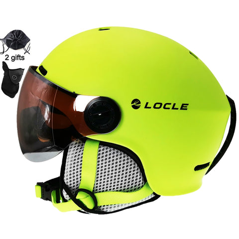 Locle Fluro Ultralight Skiing Helmet for Men and Women