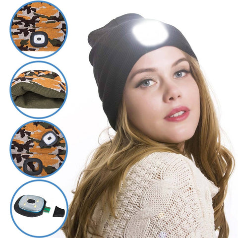 LED Beanie for Men and Women