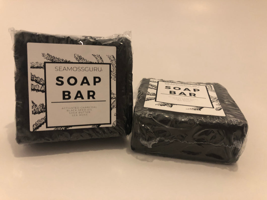 Activated Charcoal Sea Moss Soap Bar