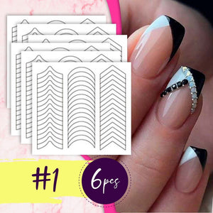 French Nail Extension Stickers