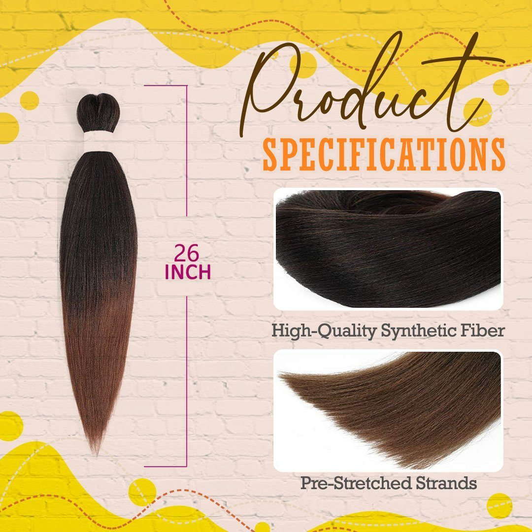 Pre-stretched Braiding Hair Extensions