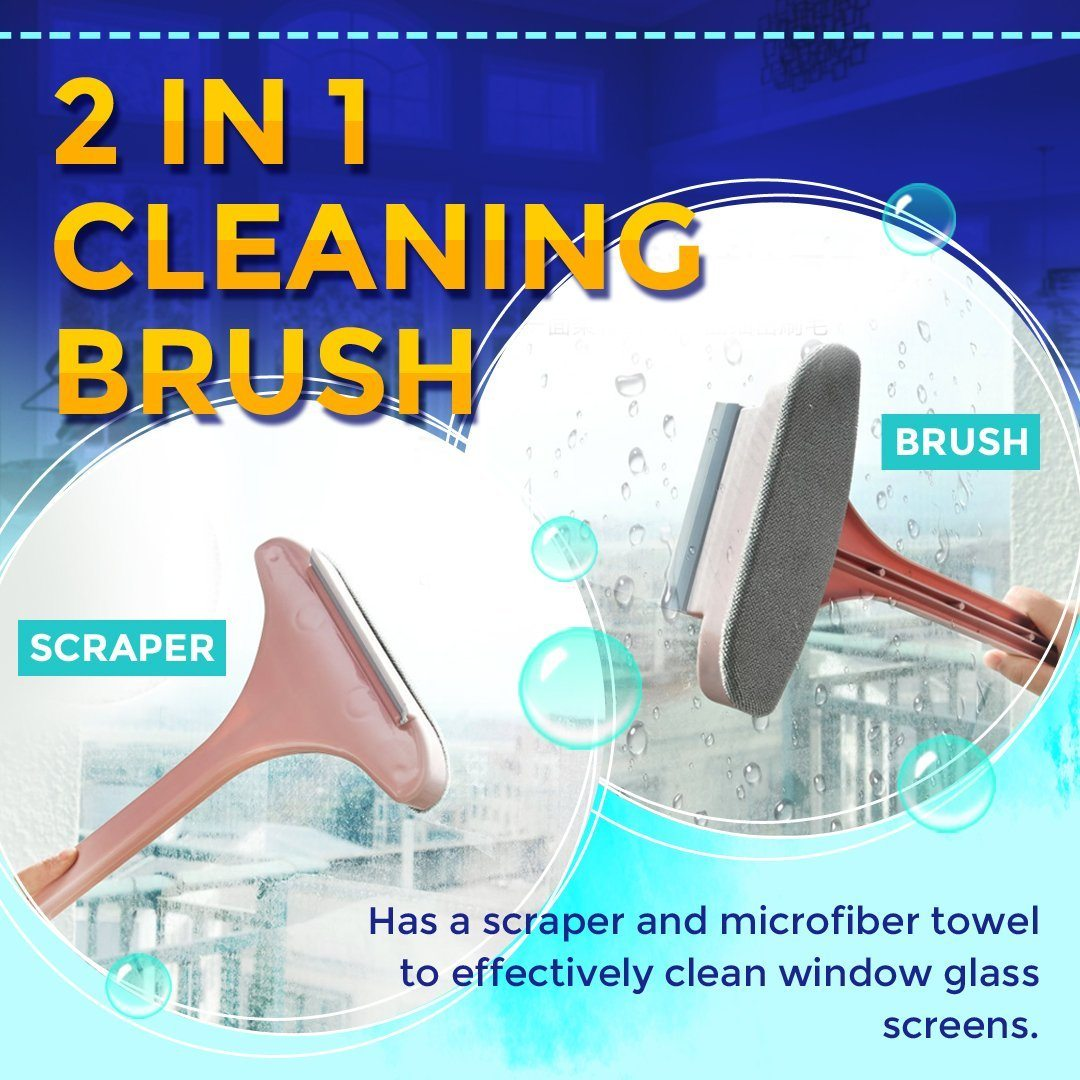 2 In 1 Window Screen Scraper Brush