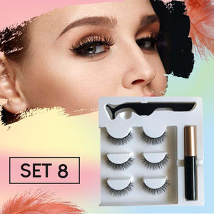 Next-Level Magnetic Eyelashes and Eyeliner- 3 Pairs/ Set!