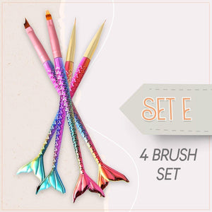 FrenchTip™ Oblique Nail Brush Set
