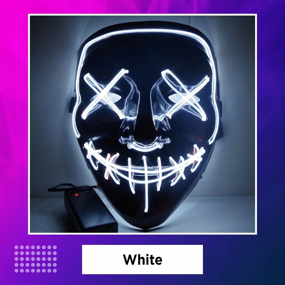 LED Neon Halloween Party Mask