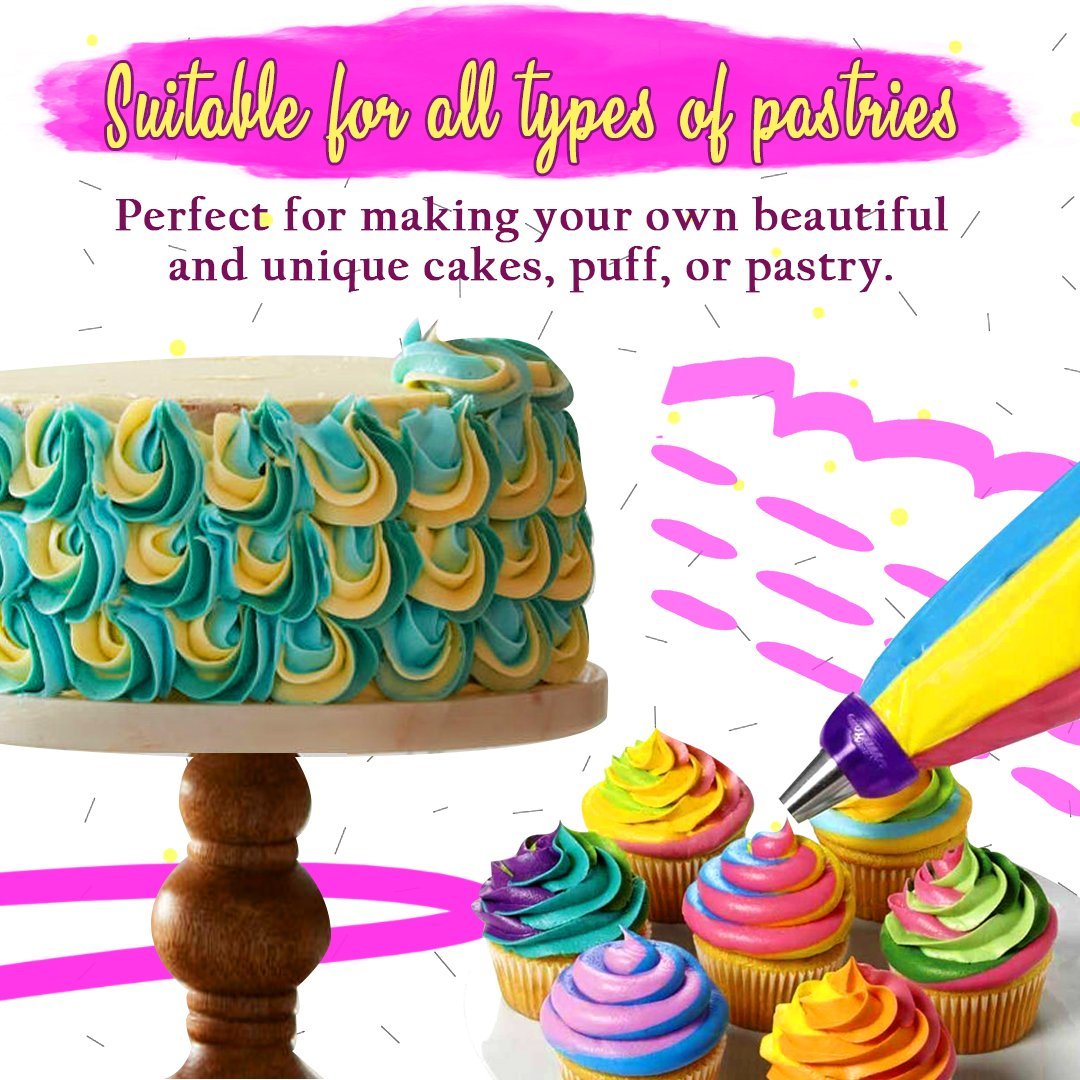 Swirl 3-Color Cake Coupler