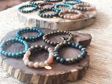 Stone & Stamp Stretch Bracelets