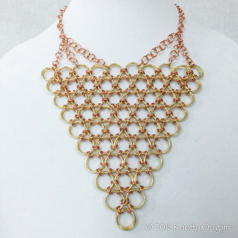 Copper And Gold Chain Maille Bib
