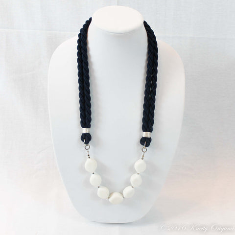 Navy & Quartz Long Necklace