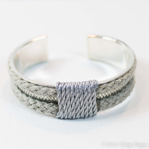 Metallic Cuff {Natural & Silver}