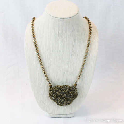 Ellipse Knot {Antique Gold & Chain}