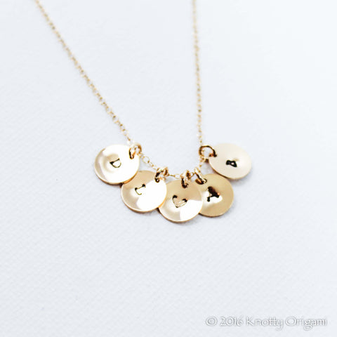 Stamped Initial Necklaces {14K Gold Fill}