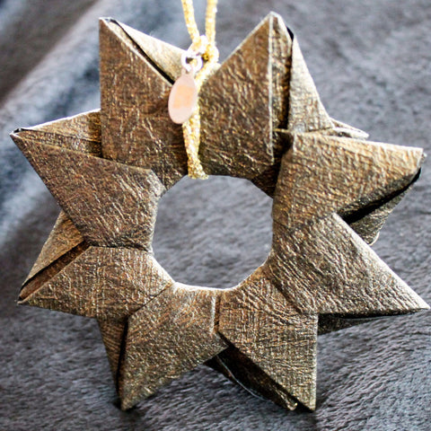 Modular Origami Star Ornament {Bronze}