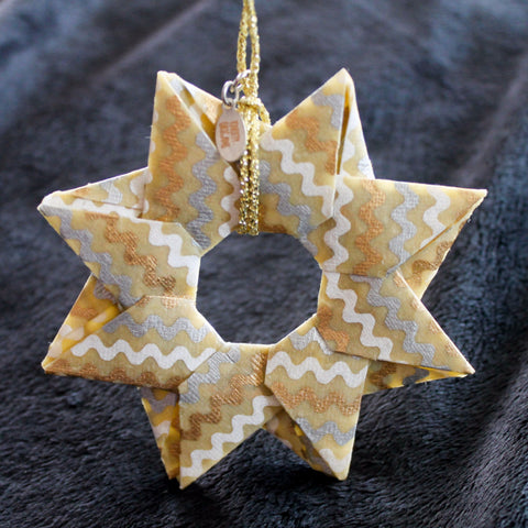 Modular Origami Star Ornament {Cream, Gold, Silver}