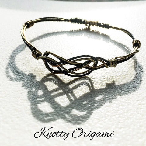 Wired Knot Bangle