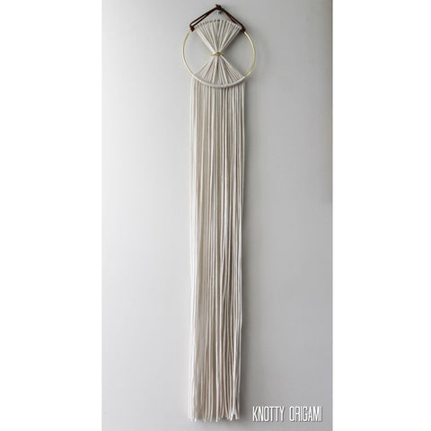 Boho Brass & Cream Macrame Wall Hanging