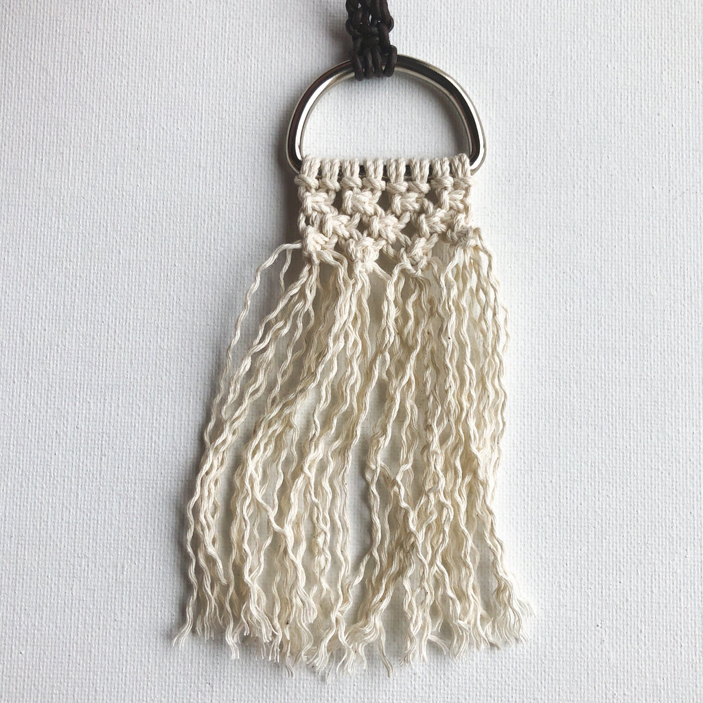 Half-Hoop Micro-Macrame Necklace