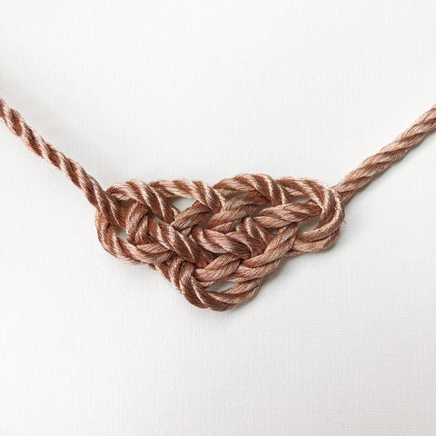 Rose Gold Dainty Delta Knot