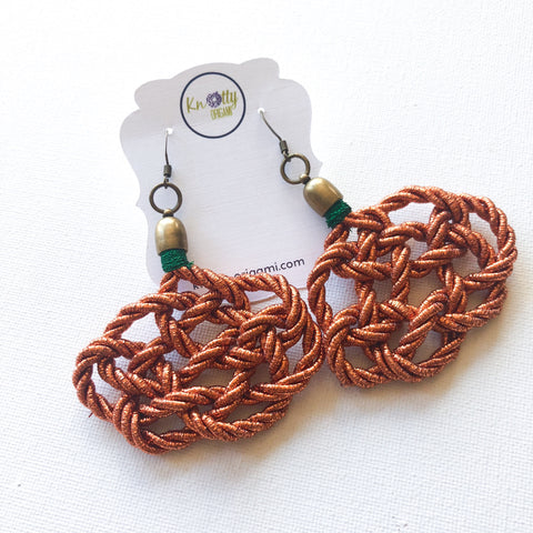 Pumpkin Knot Earrings