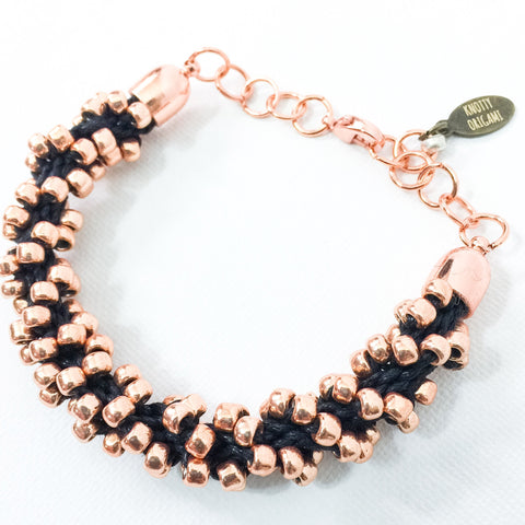 Beaded & Braided {Copper Spiral}