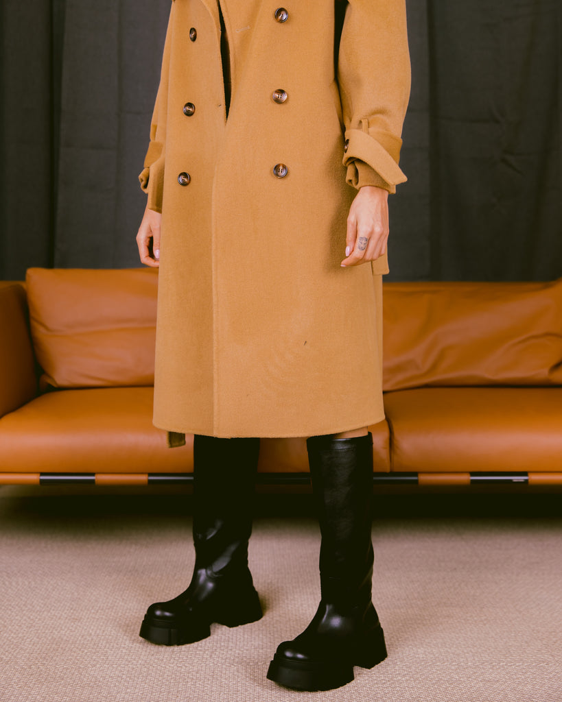 Wool Trench Camel