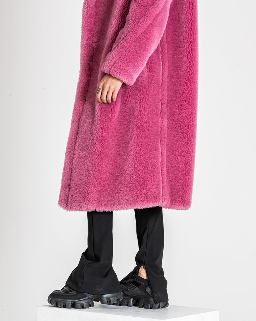 Pink Teddy Coat Oversized Fur Women's Coat
