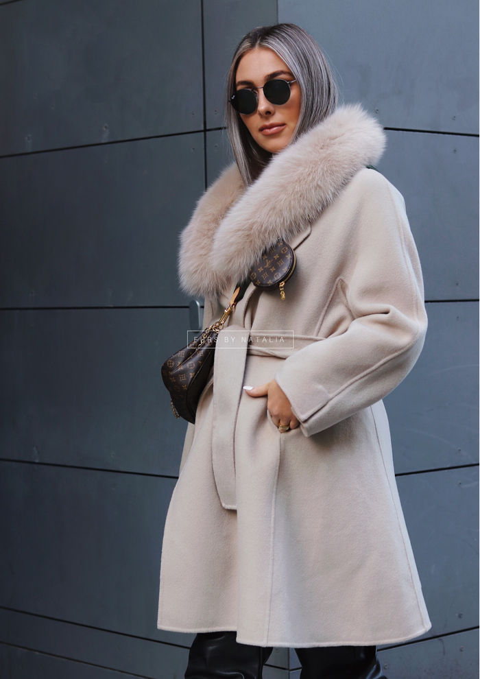 Fur Trim Cropped Coat