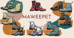 MaWeePet Art on Apparel- Designer boots and bags
