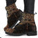 Dragonfly Rusty -Women's Boho Boots, Doc Style Festival Combat, Hippie Boots