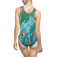 Seedlings- Women's Classic One-Piece Swimsuit - MaWeePet- Art on Apparel