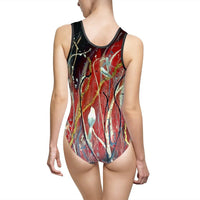 Gypsy Kiss- Women's Classic One-Piece Swimsuit - MaWeePet- Art on Apparel