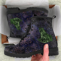 Lilli Pilli  -Women's Boots, Doc Style, Handcraft Boots, Womens Boots,  Fashion Shoes, Combat Shoes, Hippie Boots - MaWeePet- Art on Apparel
