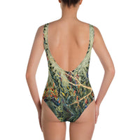 Bird Nest- Low Back One-Piece Swimsuit - MaWeePet- Art on Apparel