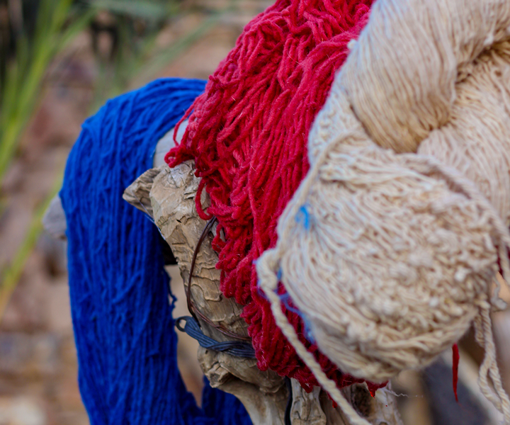 Berber rugs and the basis of its colors