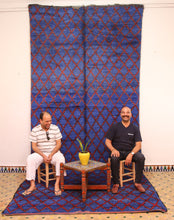 Load image into Gallery viewer, Beni Mguild blue berber rug - TB 140 - 470x200 CM
