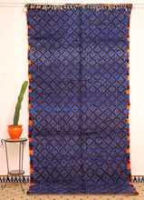 Load image into Gallery viewer, Beni Mguild blue berber rug - TB 144 - 370x175 CM