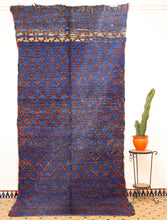 Load image into Gallery viewer, Beni Mguild blue berber rug - TB 400 - 375x175 CM