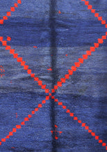 Load image into Gallery viewer, Beni Mguild blue berber rug - TB 6 - 390x190 CM