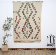 Load image into Gallery viewer, Moroccan anthique Beni Ourain carpet - BW 652 - 250x175 CM