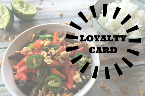 Loyalty Card-Buy 20 Meals at a Time and Save $$$!