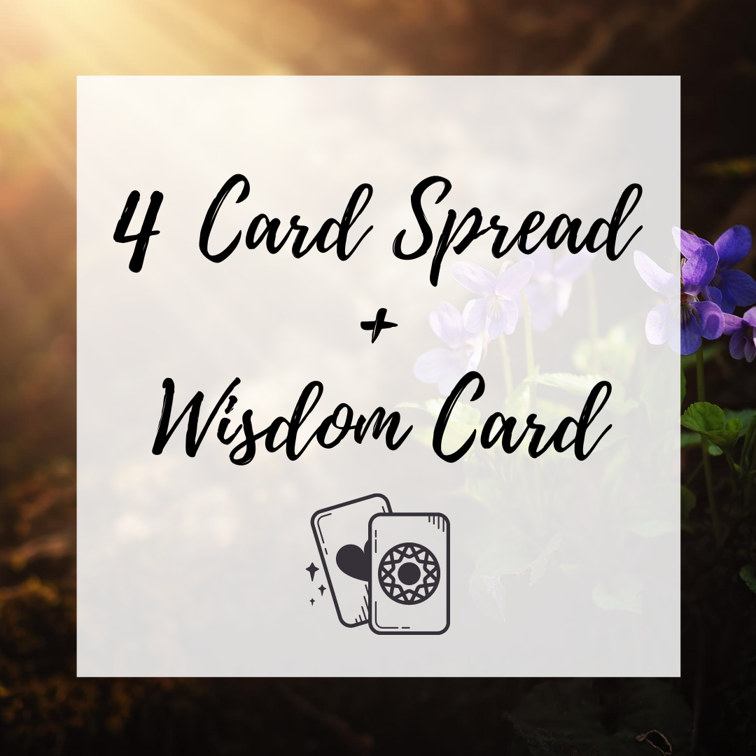 4 Card Spread + 1 Wisdom Card via Email