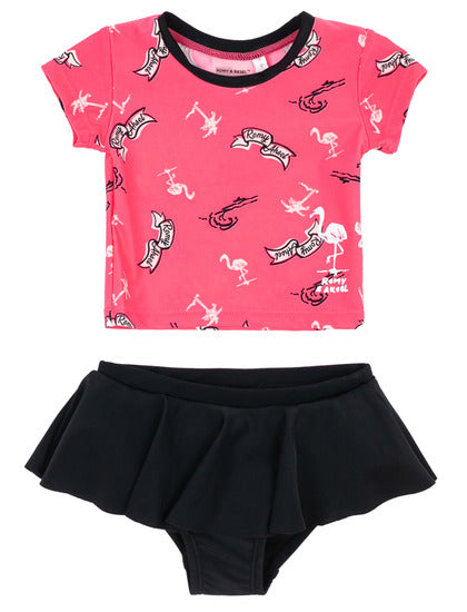 Tankini flamants roses
