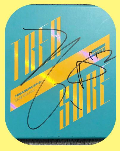 Hongjoong - Treasure Ep3 Wave Signed Album (Blue)