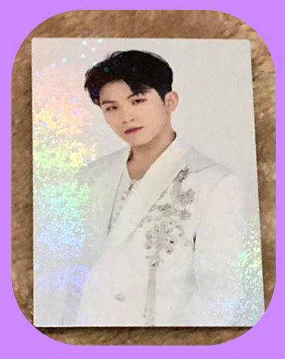 Woozi - White suit Holographic Trading Cards
