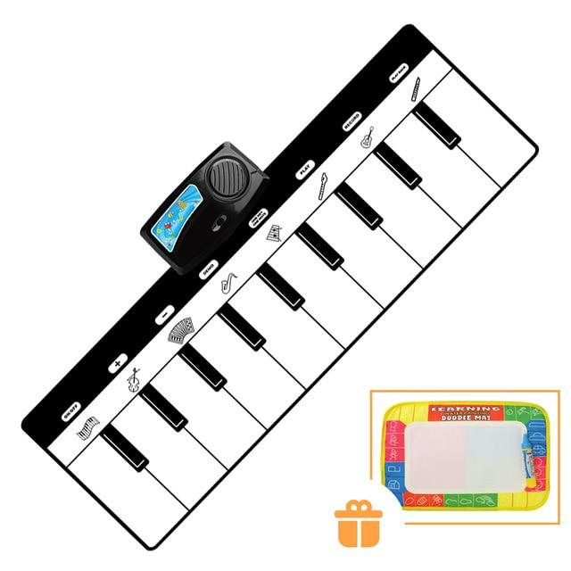 110x36cm Electronic Musical Mat Carpets Keyboard Baby Piano Play Mat Toy Musical Instrument Music Toys Educational Toys for Kids - Bombibib