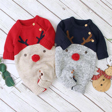 Load image into Gallery viewer, 2020 New Winter Christmas Newborn Baby Girl Knitted Romper Jumpsuit Overall Sweater Warm Fall Autumn Wool Xmas Clothes - Bombibib