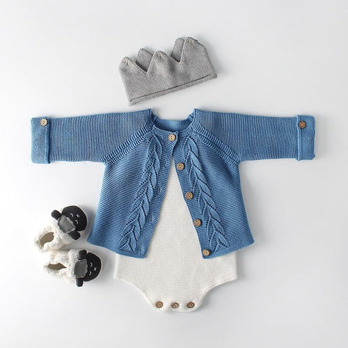 3/4 Long Sleeve Knitted Cardigan