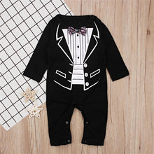 Load image into Gallery viewer, Baby Tuxedo Romper - Bombibib