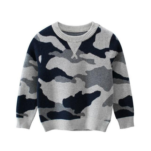 Camouflage Sweater Baby CLothes, Children Clothing