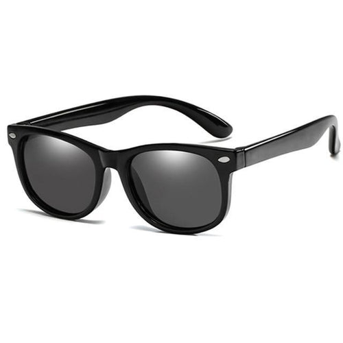 Junior Polarized Sunglasses in Black